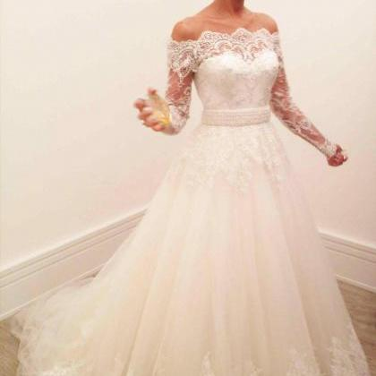Off the Shoulder Wedding Dresses,Lo..