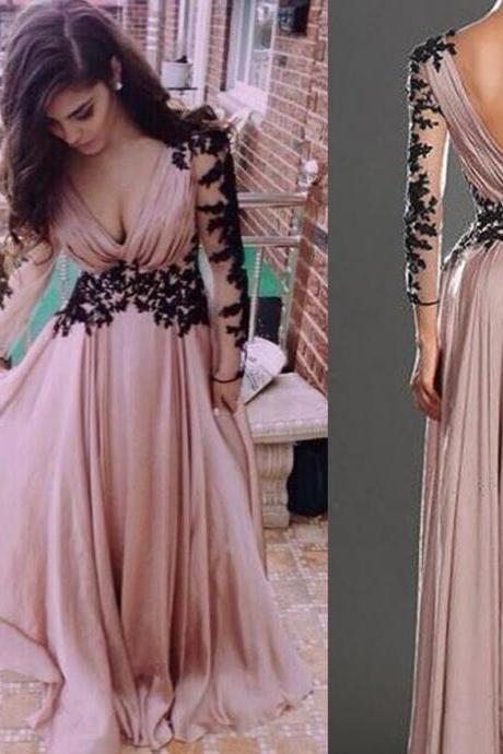 Prom Gown,A-line Evening Gown,Chiffon Evening Gown,Hot Style Evening Dress,Party Dress,Full Sleeved Evening Dresses,Long Evening Gown,Fashion Evening Gown,Party Dress,Modest Party Dress,Dress for Evening