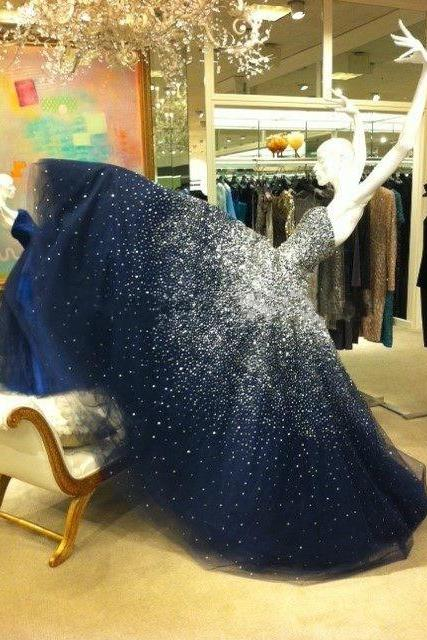 Prom Dress,Prom Dresses,Sparkling Prom Dress,Bling Prom Dress,Long Prom Dress,Beaded Prom Dress,Navy Prom Dresses,Fashion Girl Party Dress,Ball Gown,Ball Gown Prom Dress HG196