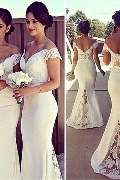 lace Prom Dress,Long bridesmaid dresses,lace stitching trailing evening dress,High Quality Graduation Dresses,Wedding Guest Prom Gowns, Formal Occasion Dresses,Formal Dress
