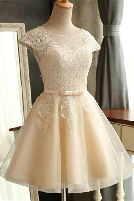 Charming Classy Homecoming Dresses,Lace Homecoming Dresses,Girly Short Prom Dresses