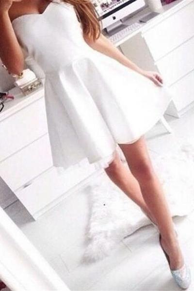 Simple Cheap Sweetheart Short Homecoming Dresses,Elegant Handmade Graduation Dresses For Teens