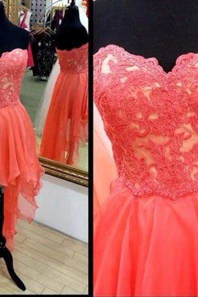 Appliques Princess Prom Dress,Floor-Length Graduation Dress,The Charming Sweetheart Graduation Dress
