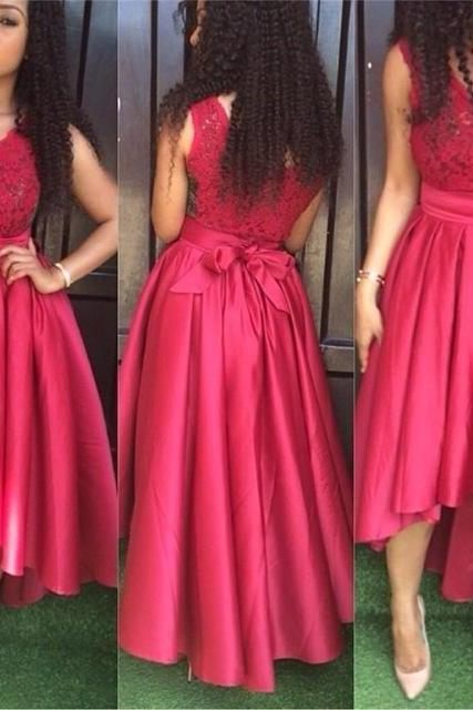 Short Front Long Back V-Neck Prom Dresses,Long Prom Dress,Cheap Prom Dresses, Evening Dress Prom Gowns, Formal Women Dress,Prom Dress