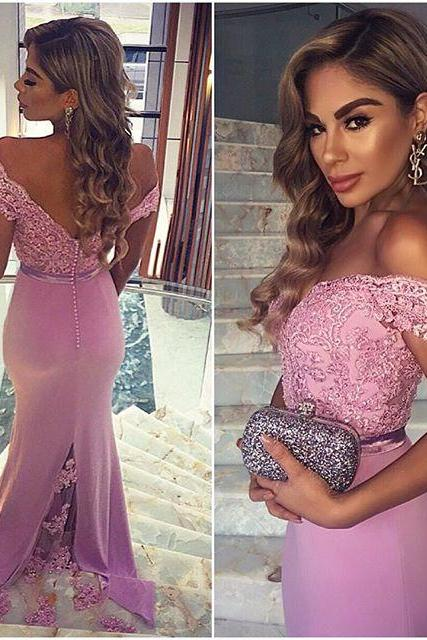 Pink Prom dresses, Evening dress, Party dress