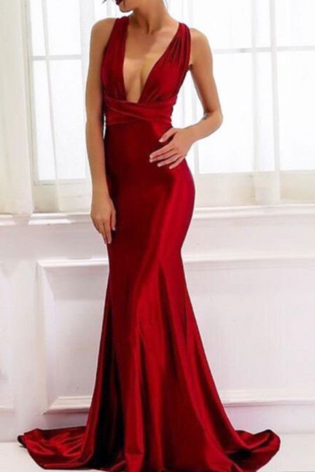Sexy Sheath Red Long Prom Dress, Red Evening Dresses, Prom Dresses,Evening Dresses,Sexy Party Dress, New Style Evening Dress