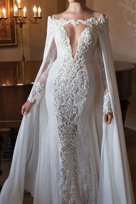 new fashion tulle lace weddingh dress with shawl,wedding dresses
