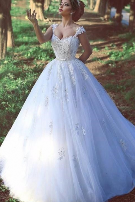 Sexy Lace Wedding Dresses,Bridal Gowns,A-line Puffy Wedding Dresses,Bridal dresses