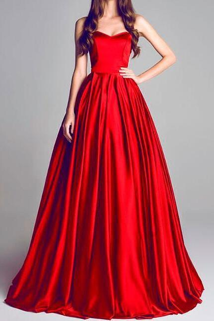 Sexy Red Evening Dresses,A Line Prom Dress,Long Evening Dress,Party Dress, Sweetheart Prom Dress,Elegant Prom Dress,Formal Evening Dress