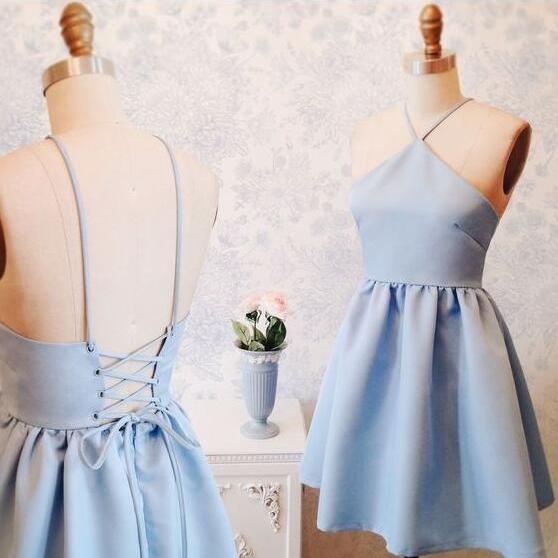 Short Homecoming Dress,Cheap Homecoming Dresses, Graduation Dress, Short Mini Dress with Corset Back